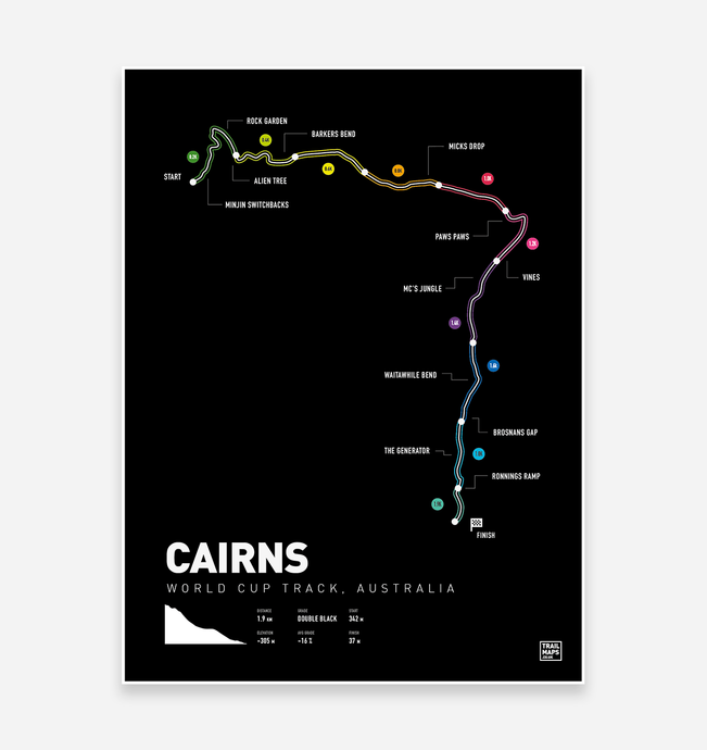 Cairns World Cup MTB Art Print