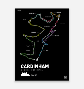 Cardinham Woods Art Print - TrailMaps.co.uk