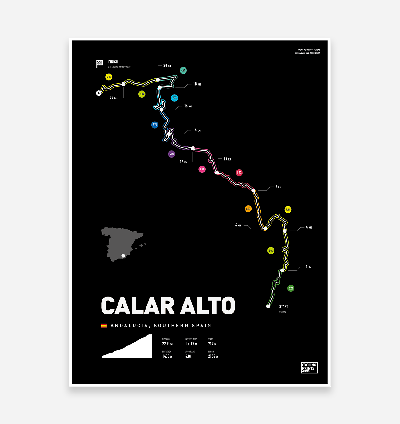 Calar Alto Art Print - TrailMaps.co.uk