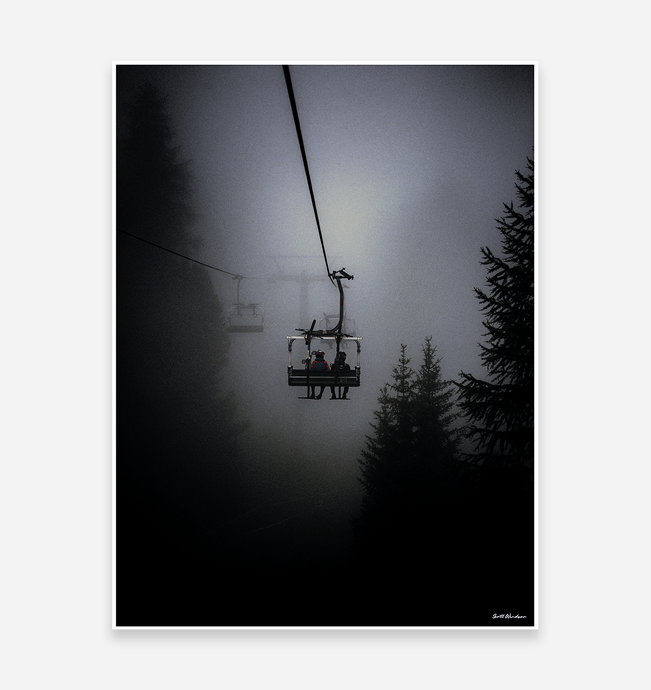 Chair Lifts - MTB Art Print