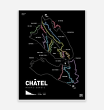 Load image into Gallery viewer, Châtel Trail Map Art Print - TrailMaps.co.uk