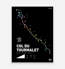 Load image into Gallery viewer, Col Du Tourmalet | Art Print - TrailMaps.co.uk