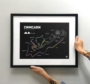 Cwmcarn Art Print - TrailMaps.co.uk