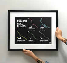 Load image into Gallery viewer, English Road Climbs | Art Print - TrailMaps.co.uk