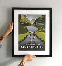 Load image into Gallery viewer, Enjoy The Ride Road Cycling Art Print