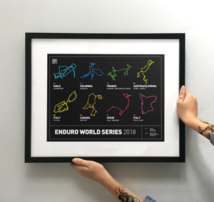Enduro World Series Art Print - TrailMaps.co.uk