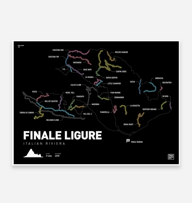 Finale Ligure Art Print - TrailMaps.co.uk