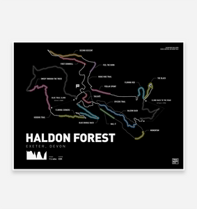 Haldon Forest Art Print - TrailMaps.co.uk