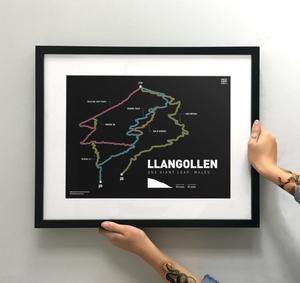 Llangollen Art Print - TrailMaps.co.uk
