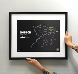 Hopton Trail Map Print - TrailMaps.co.uk