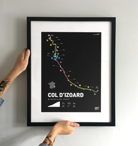 Col D'Izoard | Art Print - TrailMaps.co.uk