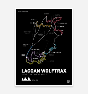 Laggan Wolftrax Art Print - TrailMaps.co.uk