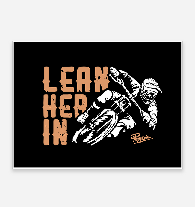 'Lean Her In' Art Print - TrailMaps.co.uk