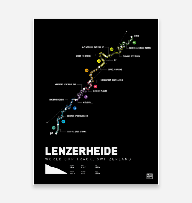 Lenzerheide Downhill World Cup MTB Art Print