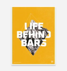 """Life Behind Bars"" Special Edition Art Print - TrailMaps.co.uk"
