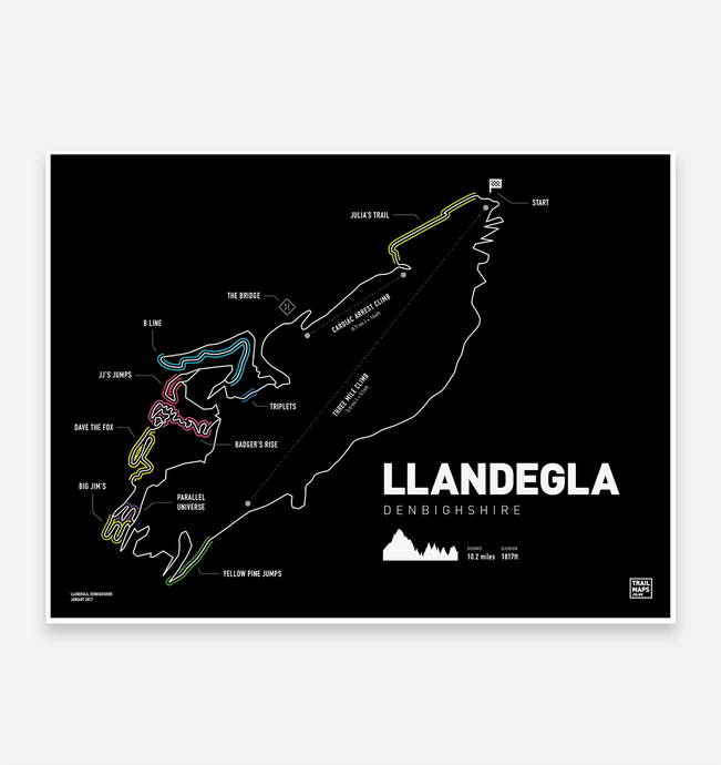 Llandegla Trail map Print - TrailMaps.co.uk
