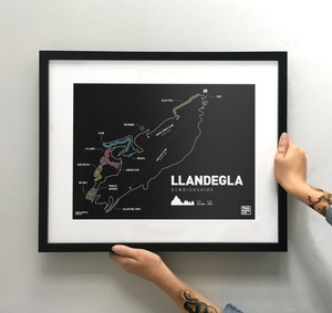Llandegla Trail map Print