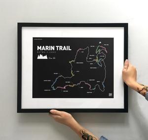 Marin Trail (Gwydir Mawr) Art Print - TrailMaps.co.uk