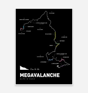 Megavalanche Art Print - TrailMaps.co.uk