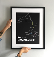Load image into Gallery viewer, Megavalanche Art Print - TrailMaps.co.uk