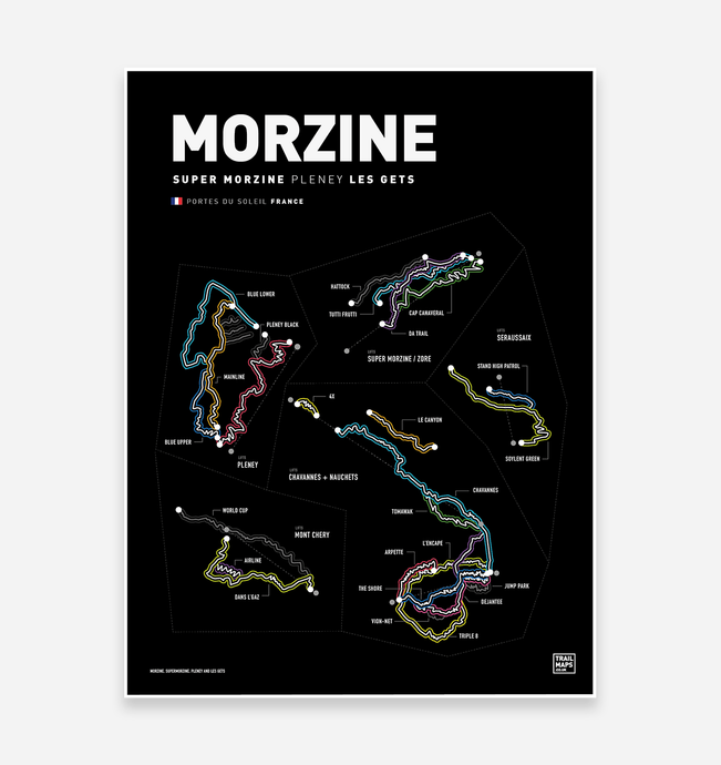 Morzine & Les Gets Art Print - TrailMaps.co.uk