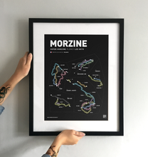Load image into Gallery viewer, Morzine & Les Gets Art Print - TrailMaps.co.uk