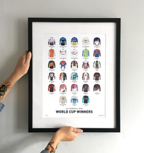 Load image into Gallery viewer, World Cup Downhill Winners Art Print - White