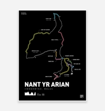 Load image into Gallery viewer, Nant Yr Arian Art Print - TrailMaps.co.uk