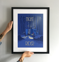 Load image into Gallery viewer, 'Night Rider'' Art Print - TrailMaps.co.uk