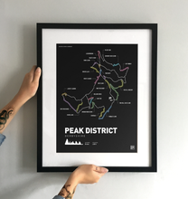 Load image into Gallery viewer, Peak District Mountain Bike Art Print