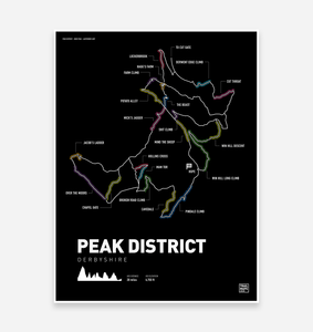 Peak District Mountain Bike Art Print