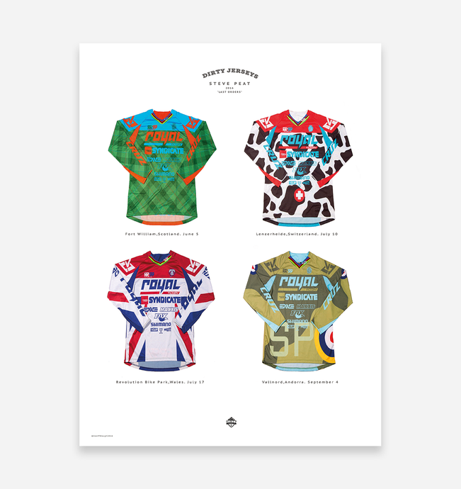 'Steve Peat' Mountain Bike Jerseys Art Print