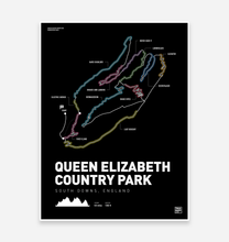 Load image into Gallery viewer, Queen Elizabeth Country Park Art Print - TrailMaps.co.uk