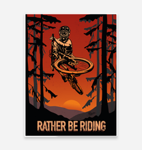 Load image into Gallery viewer, 'Rather Be Riding' Art Print - TrailMaps.co.uk