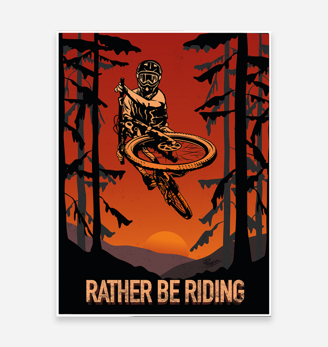 'Rather Be Riding' Art Print