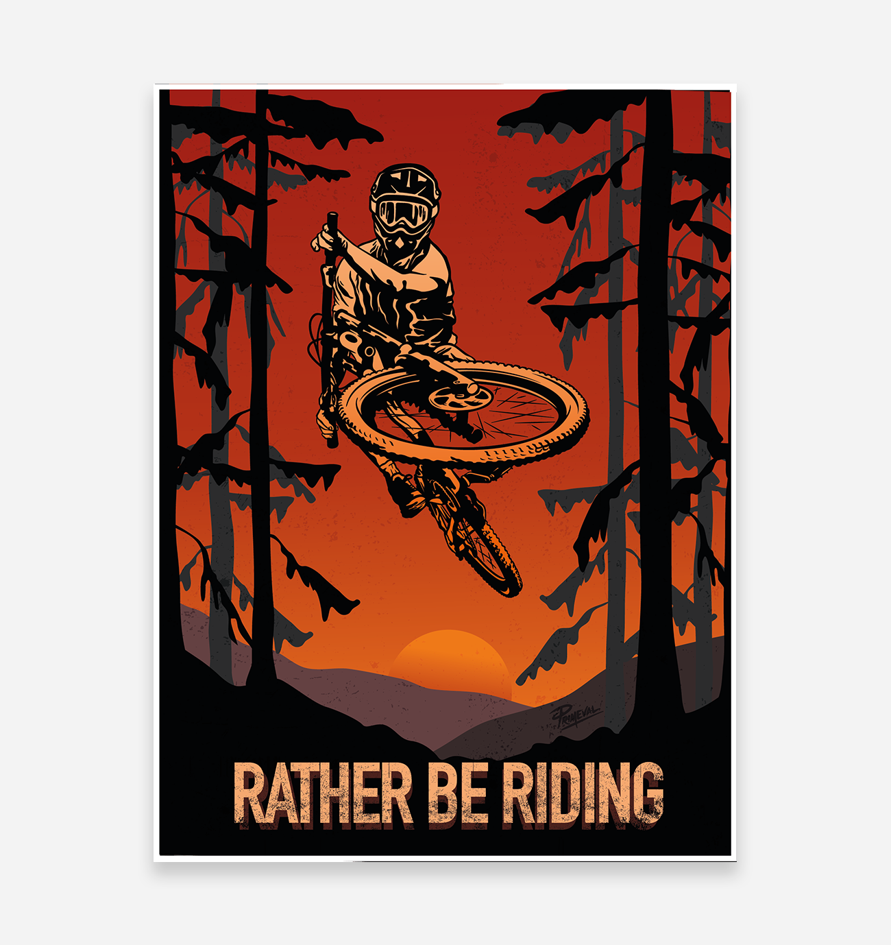 'Rather Be Riding' Art Print - TrailMaps.co.uk