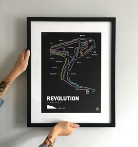 Revolution Trail Map Print - TrailMaps.co.uk