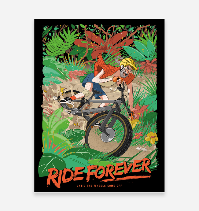 'Ride Forever' Art Print - TrailMaps.co.uk