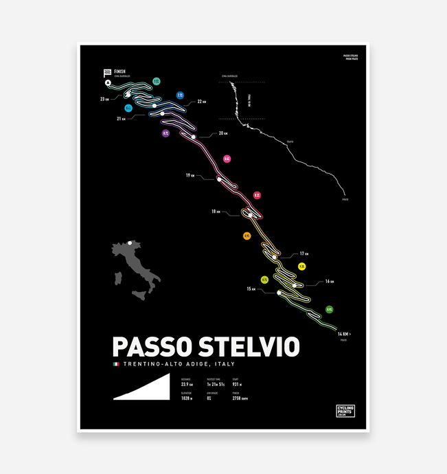 Stelvio Pass | Art Print - TrailMaps.co.uk