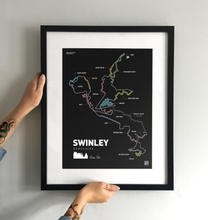 Load image into Gallery viewer, Swinley Forest Art Print - TrailMaps.co.uk