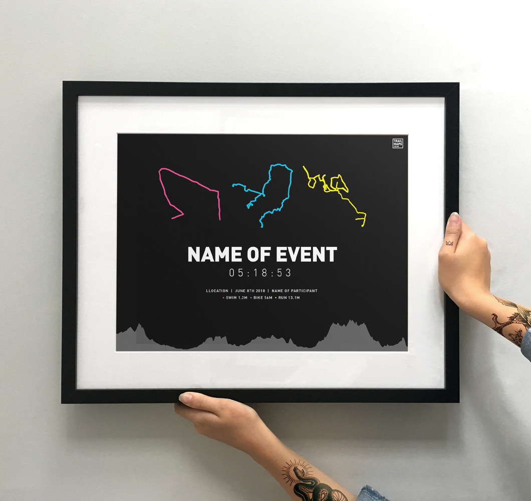 Design Your Own Triathlon Art Print