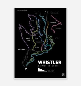 Whistler Bike Park Art Print - TrailMaps.co.uk