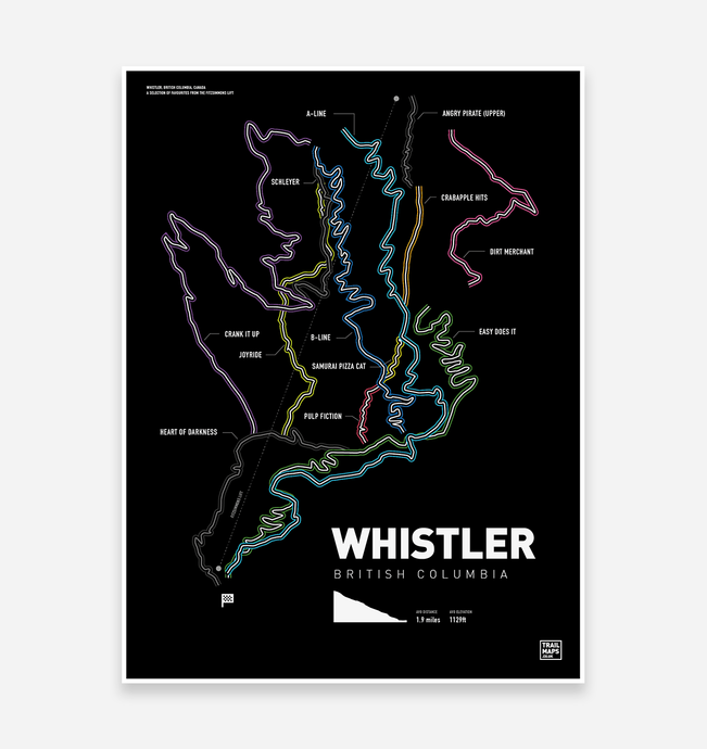 Whistler Bike Park Art Print