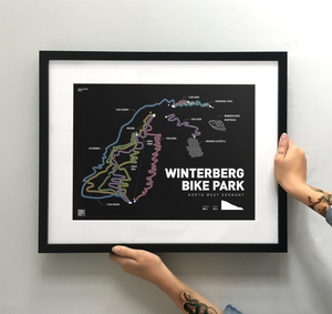 Winterberg Bike Park Art Print - TrailMaps.co.uk