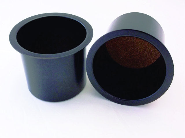 Black Aluminum Cup Holders (Pair)