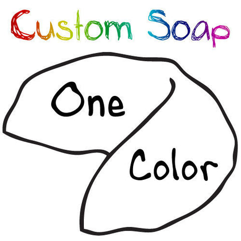 Personalized Solid Color Fortune Cookie Soaps (30 to 500) - Fortune Cookie Soap