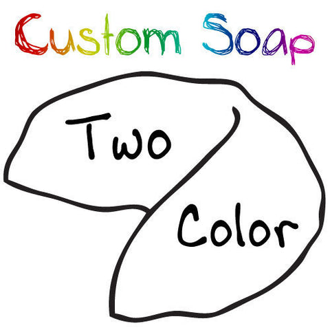 Personalized Swirl Color Fortune Cookie Soaps (30 to 500) - Fortune Cookie Soap