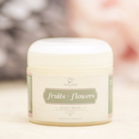FRUITS + FLOWERS Night Cream - Fortune Cookie Soap