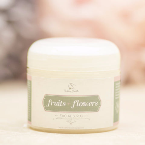 FRUITS + FLOWERS Facial Scrub - Fortune Cookie Soap