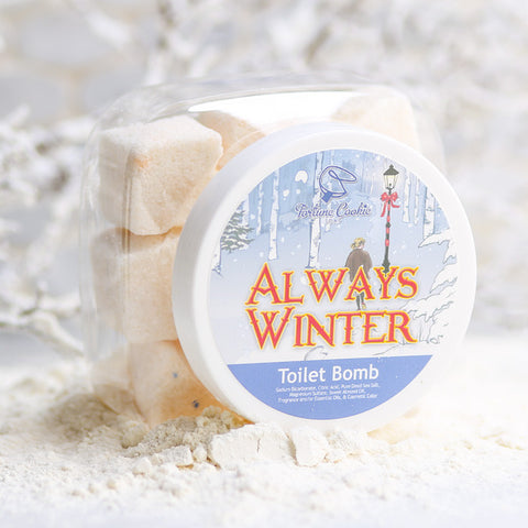 ALWAYS WINTER Toilet Bomb - Fortune Cookie Soap